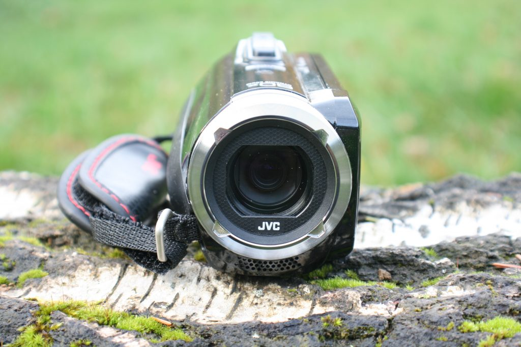 Frontansicht des Camcorders