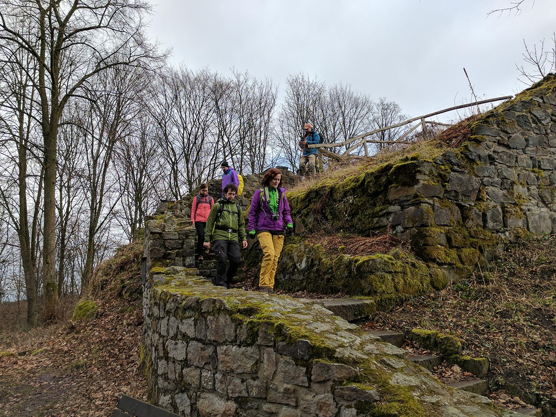Blogger auf der Burgruine Rosenau
