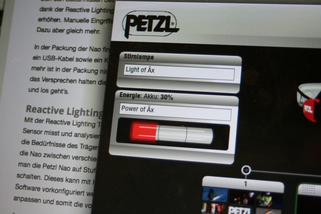 Software der Petzl Nao