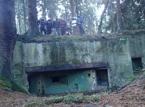 Blogger auf dem Bunker