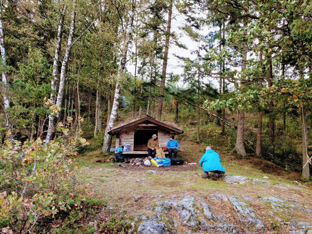 Unterwegs trifft man auf andere Wanderer (Schweden)